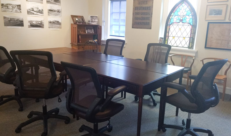 McDuffie Writers Room Katonah Village Library - Communal work table